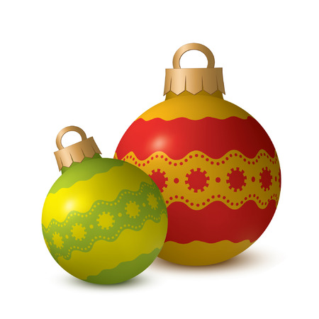 xmax: Two decoration balls on white background.