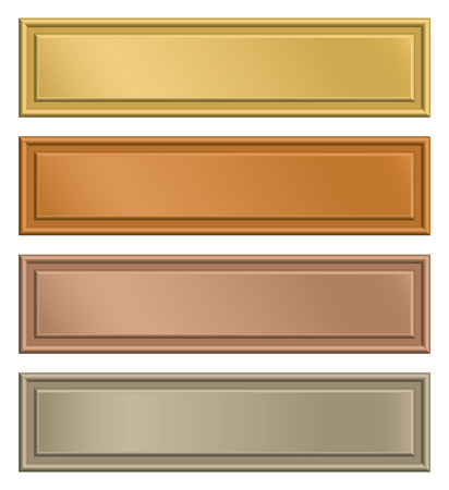 gold bar: Set of plates for text.