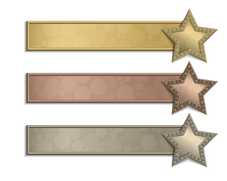 Set of plates with stars.