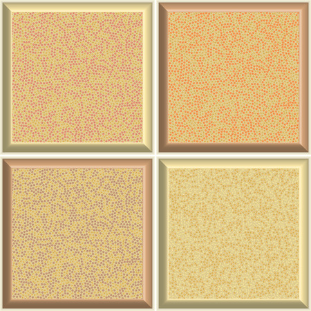 Patterns of square ceramic tiles with dots.