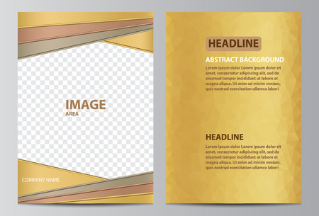 Brochure template layout in size A4