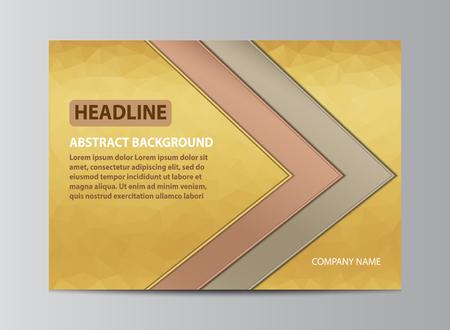 Horizontal cover design for brochure template. Çizim