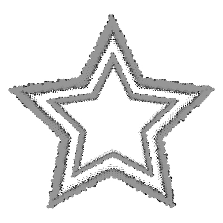 Abstract halftone stars on white background.