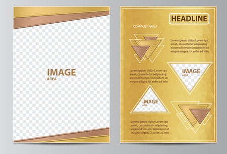 Brochure template layout with triangles in size A4. Illustration