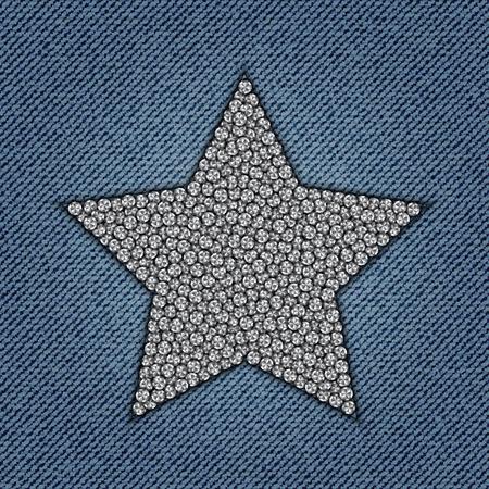 Star with diamonds