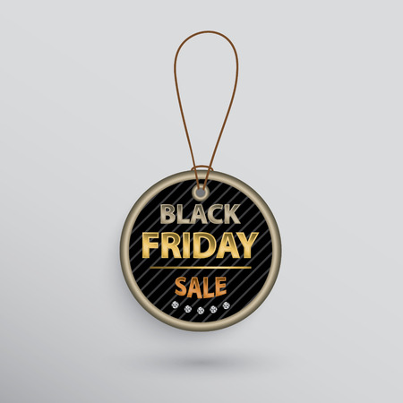 Circle Black Friday sale label with text. Çizim