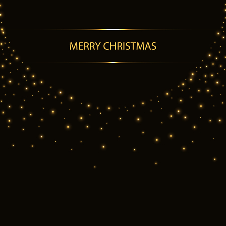 Abstract Christmas background with glittering spots.