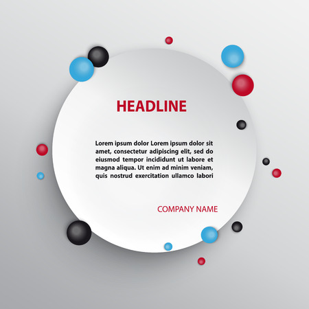 Abstract infographic design with circles. Çizim