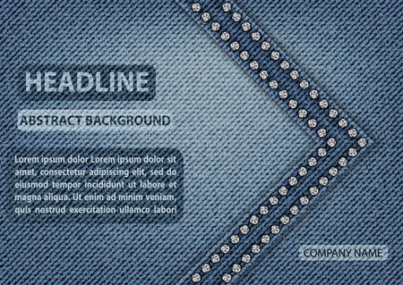 Template design with jeans texture.