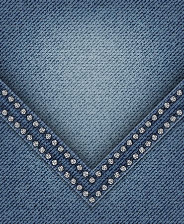 Blue jeans angle with diamonds.