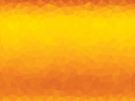 Abstract orange polygonal background with triangles.