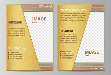 Brochure template layout in size A4. Çizim