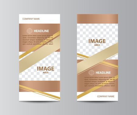 Tri-fold brochure template layout. Çizim