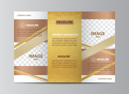 Tri-fold brochure template layout in size A4.