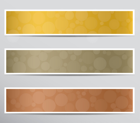 Set of banners with bokeh effect .