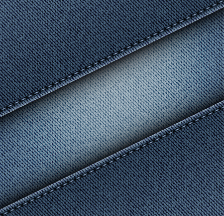 Diagonal jeans texture with stripe and stitches.