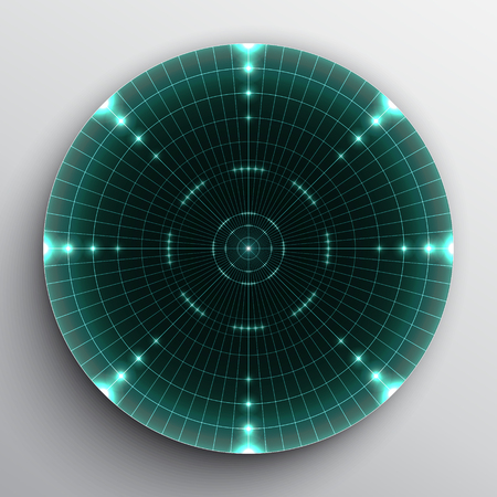 Radar range on white background.
