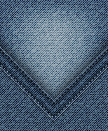 Blue jeans angle with orange stitches on jeans background.
