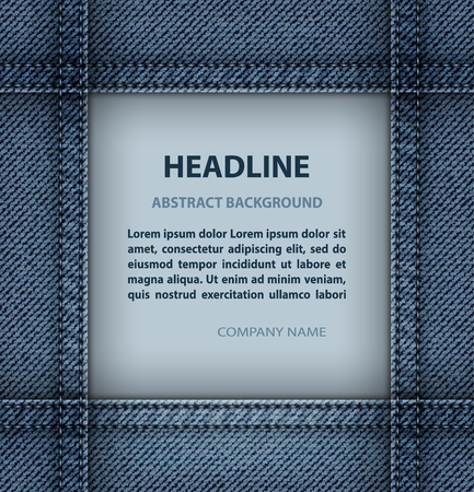 Blue jeans frame with blue stitches.