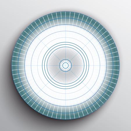 White blue target on white background. Stok Fotoğraf - 125196755