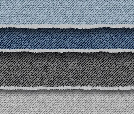 Abstract vector denim background with horizontal colourful stripes.