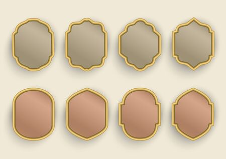 Set of frame templates in arabic style. Ilustracja