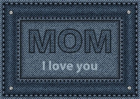 Blue denim poster for Mother's day.