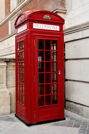 telephone booth london. red. typical