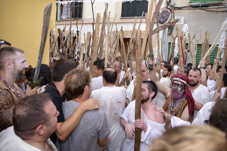 Popular celebrations moors and christians in Pollensa