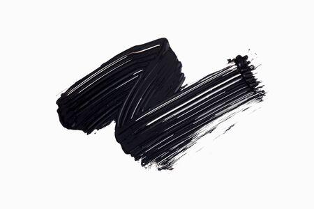 texture mascara avec fond blanc