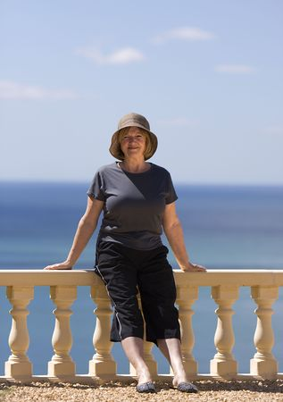 Senior Lady on Vacation photo