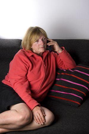 Shot of a Senior Lady on the Phone photo