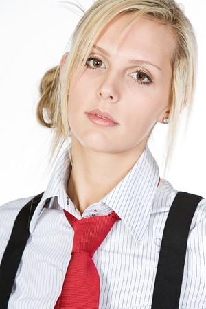 Shot of Beautiful Blonde Business Woman photo