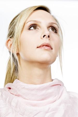 Beautiful Blonde Girl Looking Away from Camera Stock fotó - 4000406