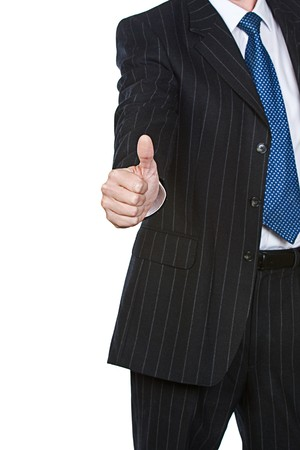 Business Man THUMBS UP Stock Photo - 4206521