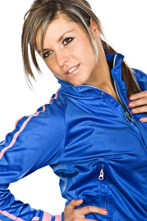 Shot of an Attractive Brunette in Sports Clothes photo