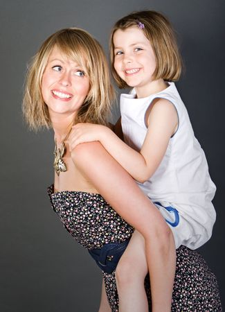 giggle: Shot of a Happy Mother and Daughter Together