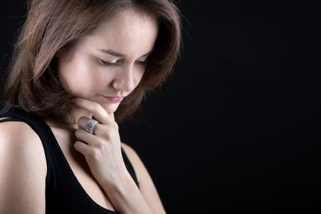 Shot of a Pensive woman photo