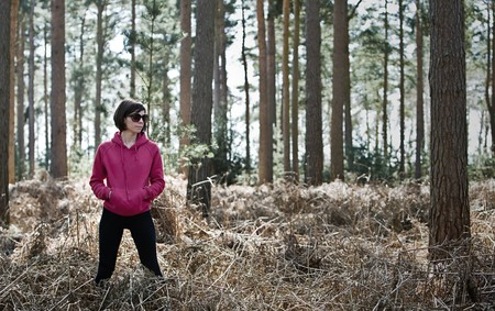 Shot of a Woman in Running Gear in the Forest Stock Photo - 7562012