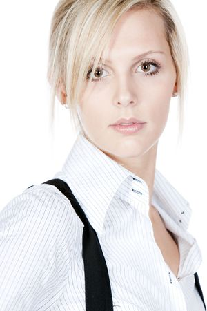 Portrait Shot of a Stunning Blonde Business Woman photo