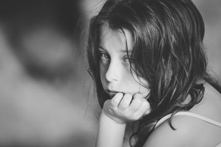 domestic violence: Shot of Sad Child