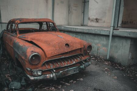 Classic old car corroded and weathered 写真素材