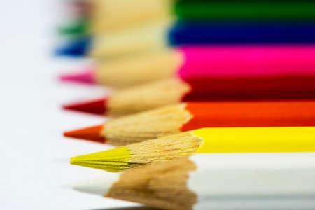 Some color pencils in line Stok Fotoğraf