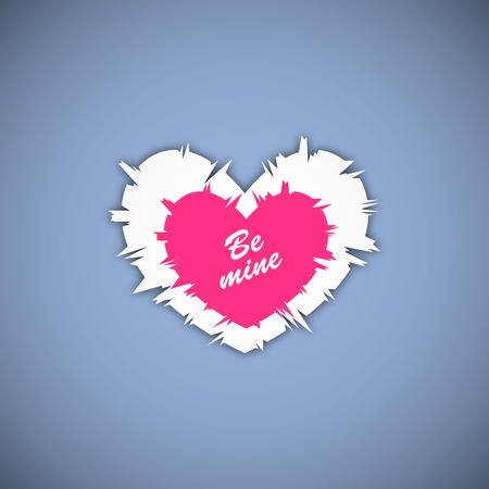 be mine: Happy valentines day. Vector illustration. Be Mine Illustration