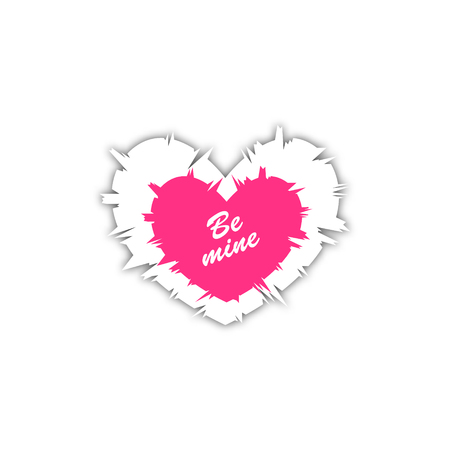 be mine: Happy valentines day. Vector illustration. Be Mine. Isolated on white