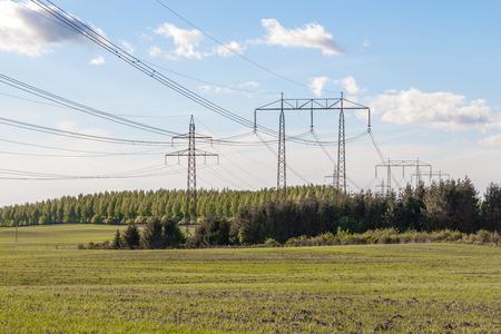 electricity pylon: Electricity Pylon in southern Sweden