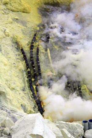 sulfur: Kawah Ijen Sulfur Mine