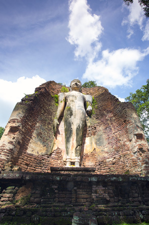 magnate: Buddha statue in Archaeological site, Kampangpetch, Thailand. Stock Photo