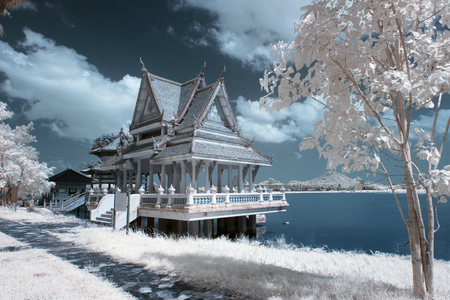 near: Thailand taken in Near Infrared  Stock Photo