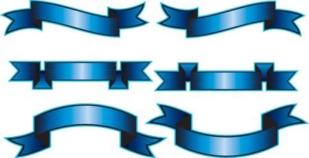 display type: Seis dise�os de banner vector de Vectores